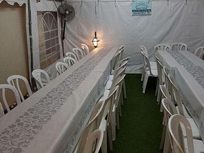 אוהל אבלים להשכרה ל 70 איש