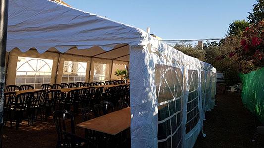 אוהל להשכרה ל 70 איש