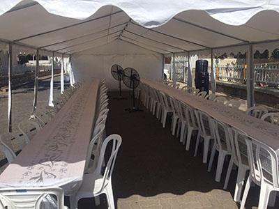 השכרת אוהל ל 70 איש